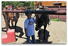 """Sombrero Ranch in Estes Park, CO - Horseback riding in Rocky Mountain National Park is a """"must-do"""" for families!  Read more kid-friendly reviews of Sombrero Ranch on Trekaroo #trootrip #colorado"""