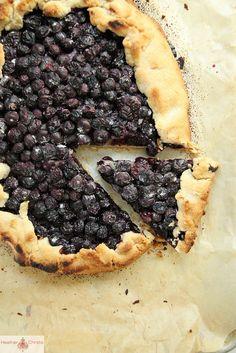 Blueberry Crostata (with orange whipped cream: 1 pint heavy whipping cream +1/2 tsp orange extract + 2T sugar)