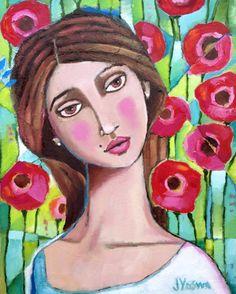 Girl with Poppies by Jennifer Yoswa
