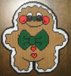 Canva Free Holiday Plastic Gingerbread Patterns | Gingerbread Man Plastic Canvas Pattern | eBay