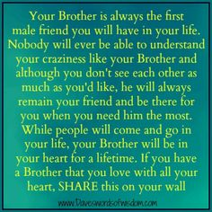 No matter what I'll always love my big brothers!