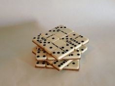 Domino Coasters by LilCodyDesigns on Etsy, $10.00