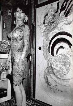 """akatako: """" from """"Tokyo Sex Underground"""" by Romain Slocombe """" Japanese Tattoo Women, Traditional Japanese Tattoos, Japanese Tattoo Designs, Japanese Tattoo Art, Japanese Sleeve Tattoos, Full Body Tattoo, Body Art Tattoos, Girl Tattoos, Yakuza Style Tattoo"""