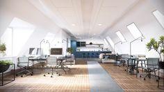 Biblioteksgatan 1, Office / Pentry, Stockholm, Interior design, Scandinavian design, 3D visualisation, render, archviz, 3Ds Max, modern design, styling 9d