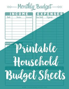 These Printable budget sheets are perfect for organizing your finances this New Year. Take control of your finances and gain financial freedom with this budget organizer. Budget Help, Making A Budget, Create A Budget, Budgeting Finances, Budgeting Tips, Ways To Save Money, Money Saving Tips, Money Savers, Saving Ideas