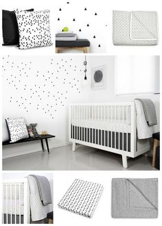 Black and white nursery ideas: Olli and Lime Mini Triangle Nursery