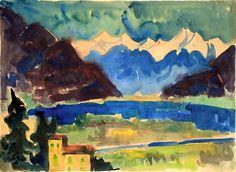 Karl Schmidt-Rottluff - Berge Am Lago Maggiore.