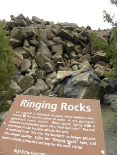Ringing Rocks in Montana. The only other place in the United States that has this geological feature is in Pennsylvania.