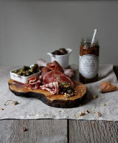 I love charcuterie boards. Meats and cheeses and mmmm.  Cavalier