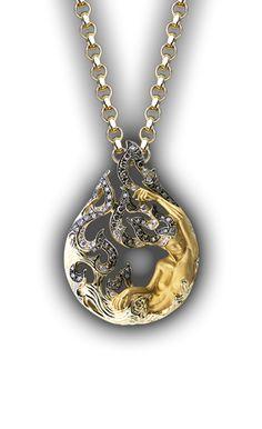 Necklace Diosa Tear CO Yellow Gold Diamonds and Brown Diamonds Stylish Jewelry, Cute Jewelry, Modern Jewelry, Boho Jewelry, Jewelry Art, Antique Jewelry, Jewelery, Jewelry Accessories, Fashion Jewelry