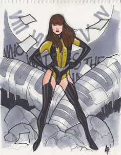Silk Spectre II by Adam Hughes