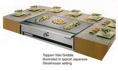 Teppan-Yaki Griddles for Japanese Steak House Food Equipment, Restaurant Equipment, Japanese Steak, Japanese Food, Commercial Cooking, Outdoor Cooking, Outdoor Kitchens, Small Restaurants, Teppanyaki