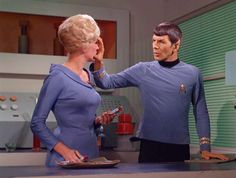 Spock and Nurse Christine Chapel in 'Return to tomorrow'