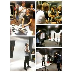 Students were studying makeup and photo in acting class at SaiGon International Film School.