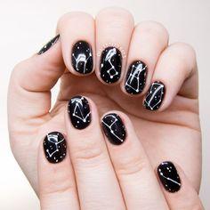 Simple Constellation Nail Art