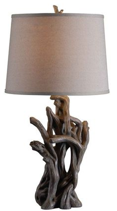 Kenroy Home 32266 Cast Away 1 Light Table Lamp Driftwood Lamps Table Lamps