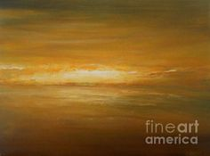 Golden Sunset - painting by Jane See. Fine art prints and posters for sale.  #janesee #painting #minimalism