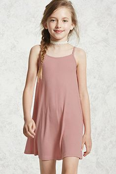 Girls ribbed cami dress