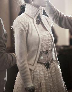 Patrycja Gardygajlo backstage at Chanel Pre-Fall 2013
