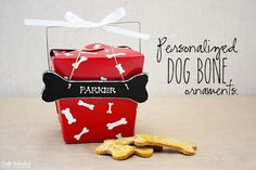 Personalized DIY Dog Bone Ornaments from craftsunleashed.com
