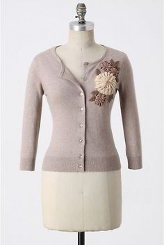 It's an Anthro sweater, but I think I could recreate the flowers out of felted wool...so cute.