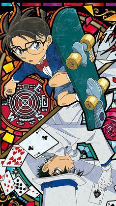 Conan Movie, Detektif Conan, Manga Anime, Anime Art, Detective Conan Shinichi, Kaito Kuroba, Detective Conan Wallpapers, Kaito Kid, Kudo Shinichi