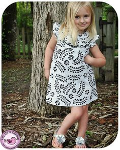 Kate's Dress - 12 mths to 10 yrs - PDF Pattern and Instructions -  A-line, 2 yoke options, lined bodice - FREE shipping $7.90