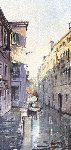 Tony Belobrajdic WATERCOLOR Venice Canal