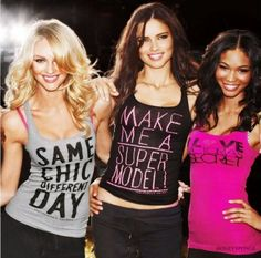 candice swanepoel, adriana lima, and chanel iman