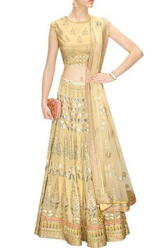 Golden color Bridal Lehenga Choli – Panache Haute Couture