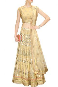 Golden color Bridal Lehenga Choli – Panache Haute Couture