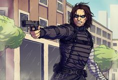 Bucky being badass