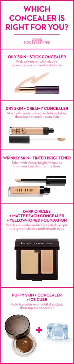 Pick the perfect under-eye concealer for your complexion.
