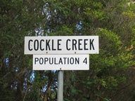 "Southmost ""town"" in Australia is Cockle Creek, Tasmania. Permanent population of just 4, it swells to 300 during summer peak."
