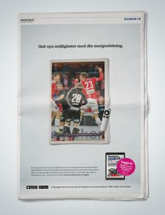 Print goes digital! Ad campaign for e-newspaper