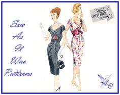1960s Vogue Couturier Design 202 Fabiani Italy Sheath Dress