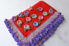 Manta Artesanal En Polar Y Crochet