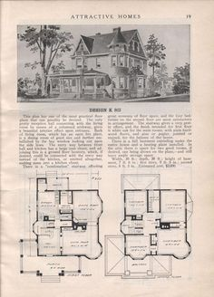 Design K 803 - from Attractive homes by Max L. Keith, Published 1912 192 p. ; ill., plans ; 26 cm. ; trade catalog
