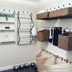 New Laundry Room Organization Storage Pottery Barn 58 Ideas Laundry Room Organization, Laundry Storage, Laundry Room Design, Small Storage, Diy Storage, Small Shelves, Organization Ideas, Storage Ideas, Storage Shelves