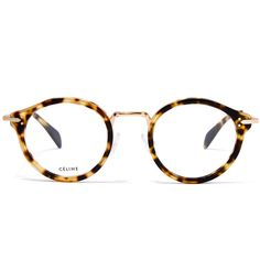 fd29289e3e5 Celine Gold-Tone Joe Round Metal Glasses ( 420) ❤ liked on Polyvore  featuring