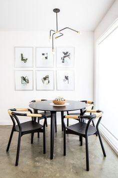 black and white ##diningroomideas