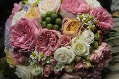 Voňavá vintage svadobná kytica z anglických ruží