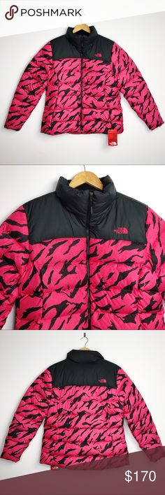 46eca7f1ffd2 The North Face Nuptse Rasberry Black Puffer Jacket Brand  The North Face  Size  XL