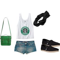 Starbucks- a girl's best friend polyvore outfit