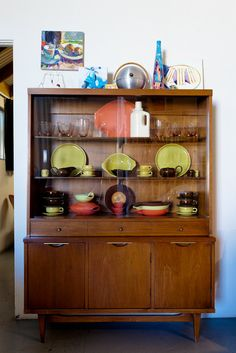 Someday I will have a beautiful midcentury hutch. And I will fill it with vintage pyrex.