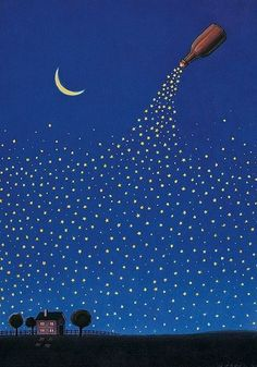 despejava estrelas/esperando que da janela fosses vê-las