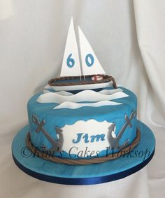 Sailing birthday cake