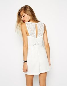 Playsuit with Lace Detail