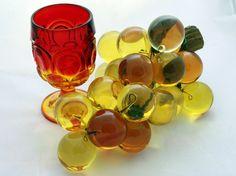 Retro Art Glass: Retro Vintage Amber Lucite Grape log Retro Art, Retro Vintage, Colored Glass, Nespresso, Glass Art, Amber, Coffee Maker, Google, Image