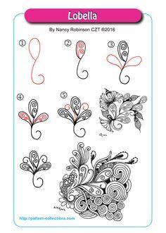 Lobella tangle pattern by Nancy Robinson PatternCollections.com